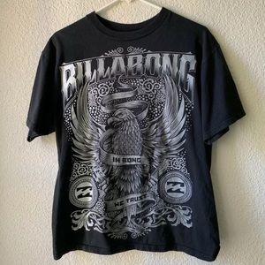 Black and Grey Billabong Eagle Graphic T shirt L